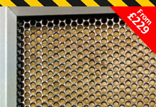 Perforated security screens